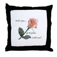 Will you go to prom with me? Throw Pillow