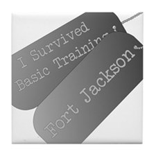 I survived basic training at Fort Jackson Tile Coa