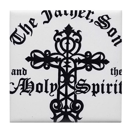 The Father, Son & Holy Spirit Tile Coaster