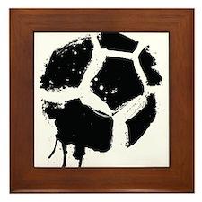 rugged soccerball Framed Tile