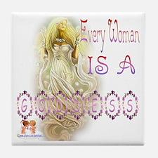 A Goddess Tile Coaster