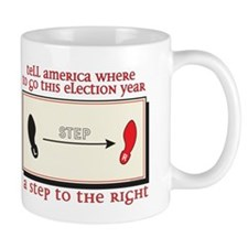 a step to the right Mug