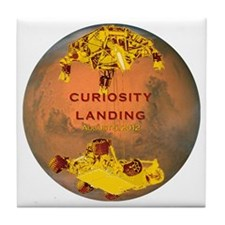 Curiosity Landing Tile Coaster