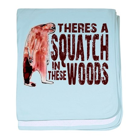Squatch in These Woods baby blanket
