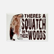 Squatch in These Woods Rectangle Magnet (10 pack)
