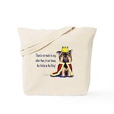 Yorkie King Tote Bag