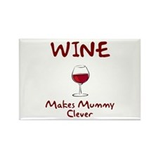Wine Makes Mummy Clever Rectangle Magnet