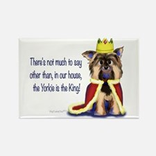 Yorkie King Rectangle Magnet