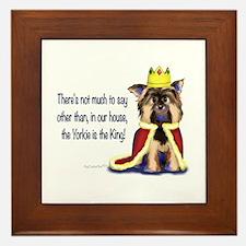 Yorkie King Framed Tile