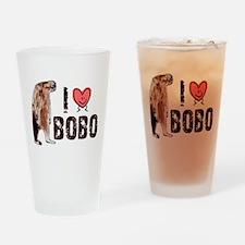 I Love Heart <3 Bobo Drinking Glass