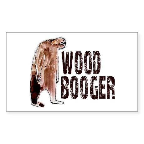 Woodbooger Sasquatch Sticker (Rectangle)