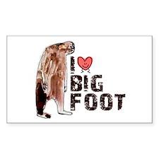 I Love Heart <3 Bigfoot Decal