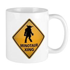 Minotaur Crossing Sign Mug