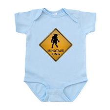Minotaur Crossing Sign Infant Bodysuit