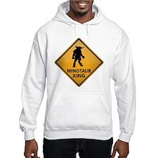 Minotaur Crossing Sign Hoodie