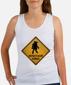 Minotaur Crossing Sign Women's Tank Top