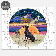 XmasAngel-Manchester Terrier Puzzle