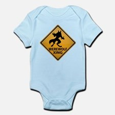 Werewolf Crossing Sign Infant Bodysuit