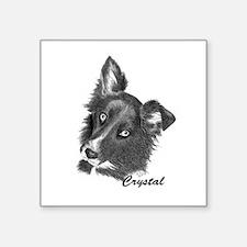 "CRYSTAL Square Sticker 3"" x 3"""