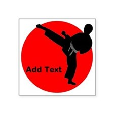 "Martial Arts Boys Square Sticker 3"" x 3"""