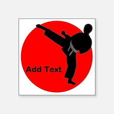 """Martial Arts Boys Square Sticker 3"""" x 3"""""""