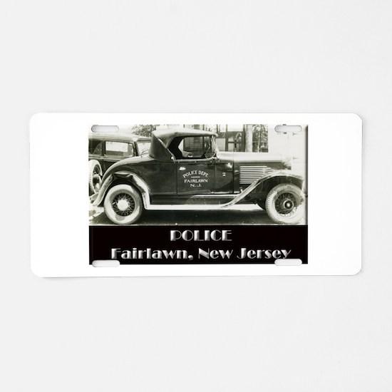 Fairlawn Police Aluminum License Plate
