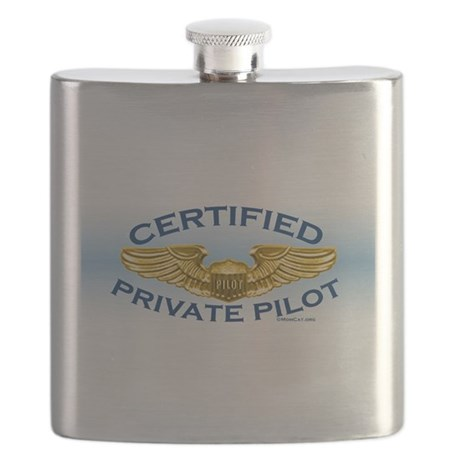 Pilot Wings: Certified (blue/gold) Flask