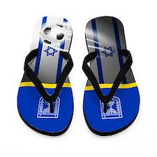 Israeli Israel Football Soccer Flip Flops