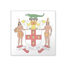 "Jamaica Coat of Arms Square Sticker 3"" x 3&qu"