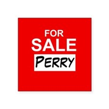"For Sale Perry Square Sticker 3"" x 3"""