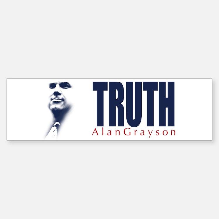 Truth: Alan Grayson Bumper Bumper Sticker