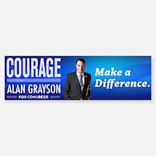 Courage: Alan Grayson Bumper Bumper Sticker