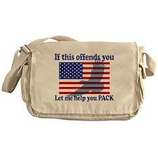 Flag Eagle Patriot Messenger Bag