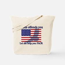 Flag Eagle Patriot Tote Bag
