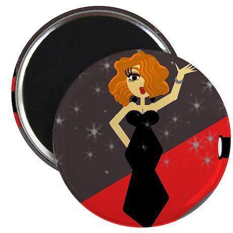 "Cute Red Carpet Diva 2.25"" Magnet (10 pack)"