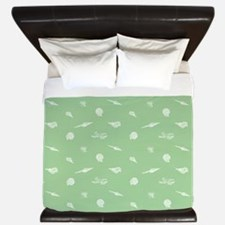 Green Beach Seashell King Duvet