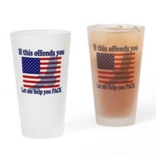 Flag Eagle Patriot Drinking Glass