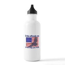 Flag Eagle Patriot Water Bottle