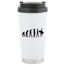 Evolution surfing Travel Coffee Mug