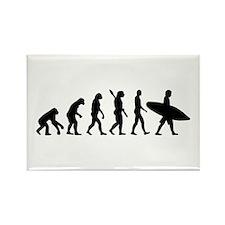 Evolution surfing Rectangle Magnet