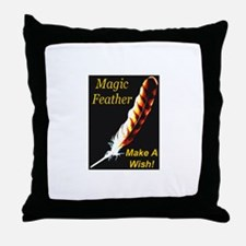Magic Feather Make A Wish Throw Pillow