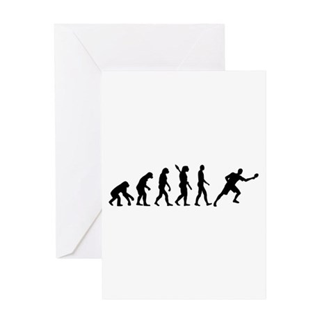 Evolution Table tennis Greeting Card