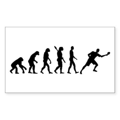 Evolution Table tennis Sticker (Rectangle)