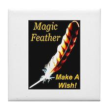 Magic Feather Make A Wish Tile Coaster