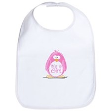 It is a Girl Penguin Bib