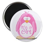 It is a Girl Penguin Magnet