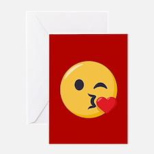 Kissing Emoji Greeting Card