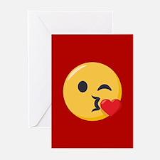 Kissing Emoji Greeting Cards (Pk of 20)