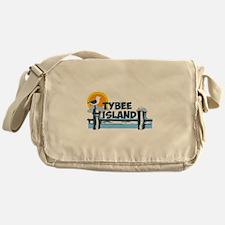 Tybee Island GA - Pier Design. Messenger Bag