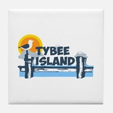 Tybee Island GA - Pier Design. Tile Coaster
